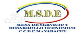Mesa de Servicio y Desarrollo Económico