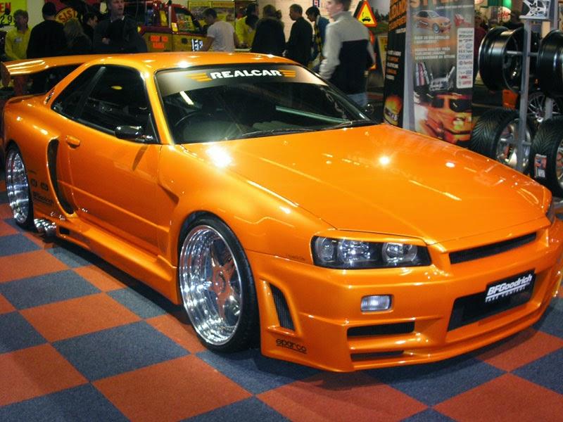 Modifikasi Nissan Skyline GTR Orange