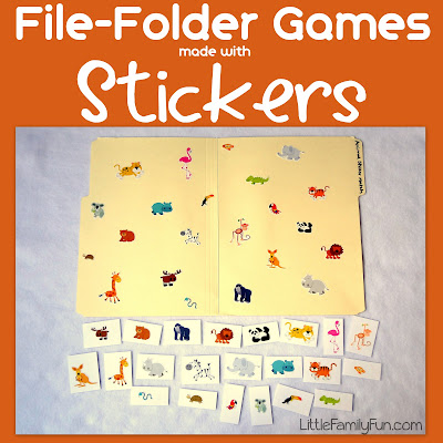 free file folder game templates - file folder games stickers