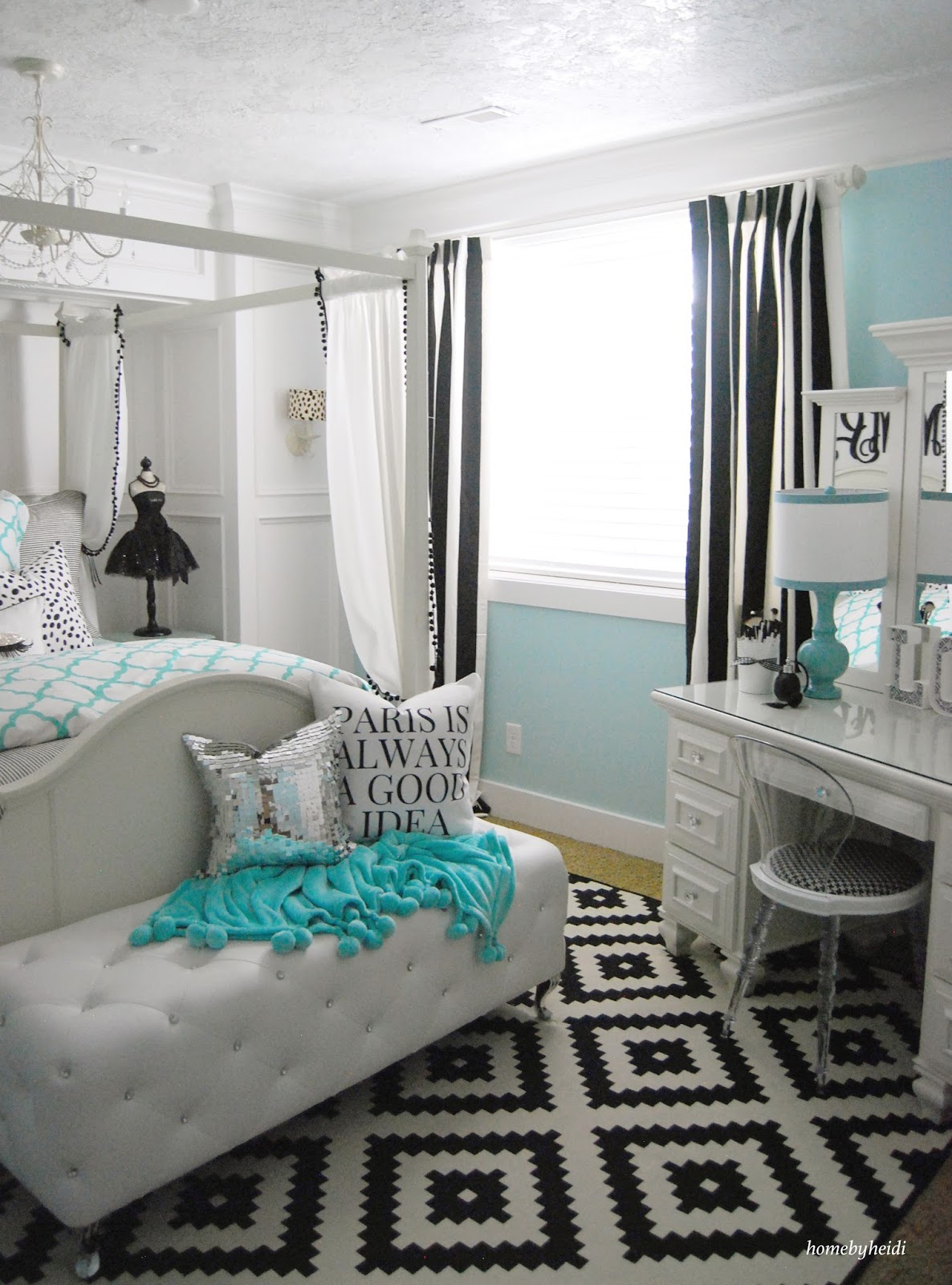 Home by heidi tiffany inspired bedroom for Cool blue bedroom ideas