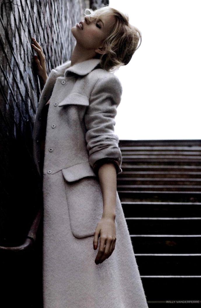 Karolina Kurkova in Vogue UK August 2010 (photography: Willy Vanderperre; styling: Miranda Almond)
