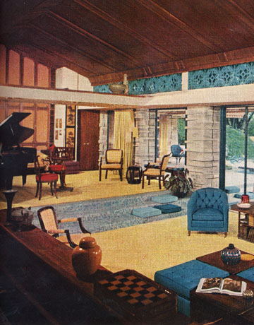 Go grad girl 1950s living room admiration for Home design 60s