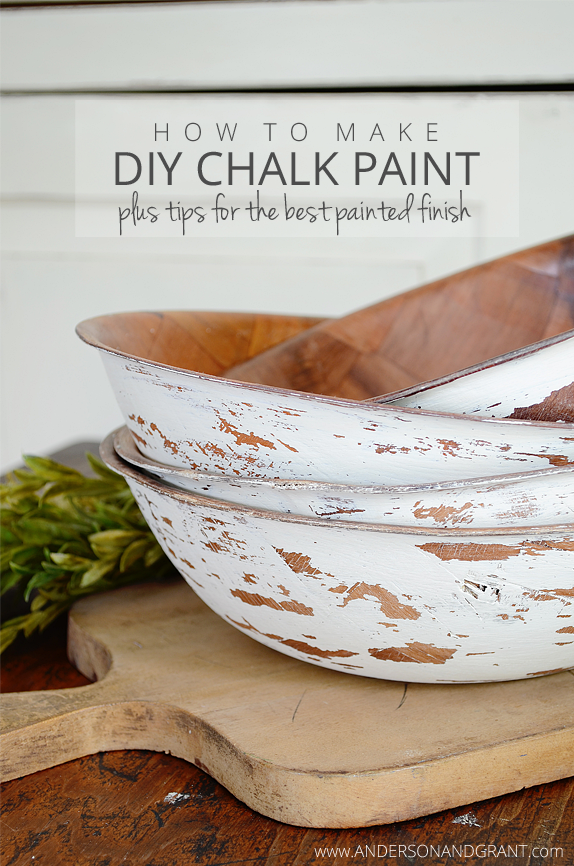 How to make diy chalk paint plus tips for the best painted for Diy chalk paint problems