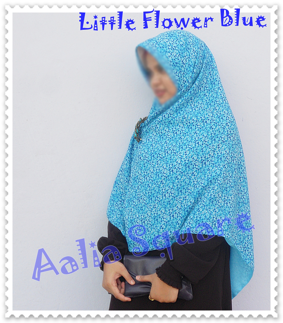 KAMILA MUSLIMAH CLOTHING AALIA SQUARE HIJAB LITTLE FLOWER SERIES