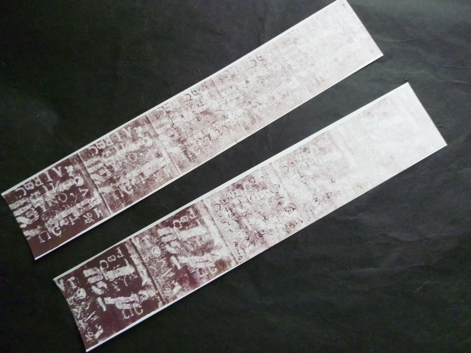 Cuir et plume calligraphies pour les f tes marque place - Modele marque page ...
