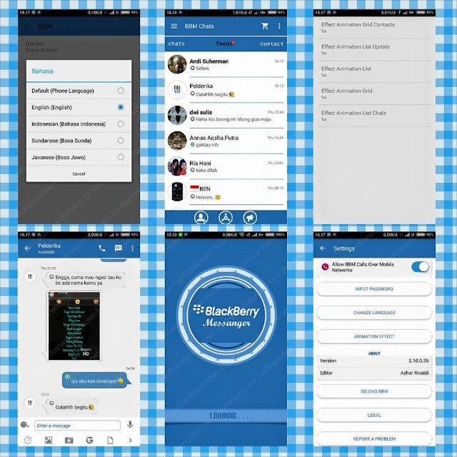 Preview BBM Mix Blue V2.10.0.35