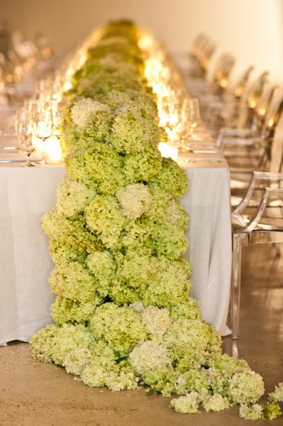 Calling it home hydrangea centerpieces
