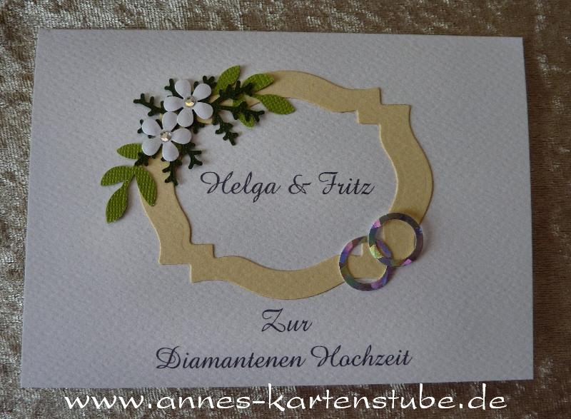 Annes Kartenstube: Glückwunschkarte Zur Diamantenen Hochzeit, Einladung