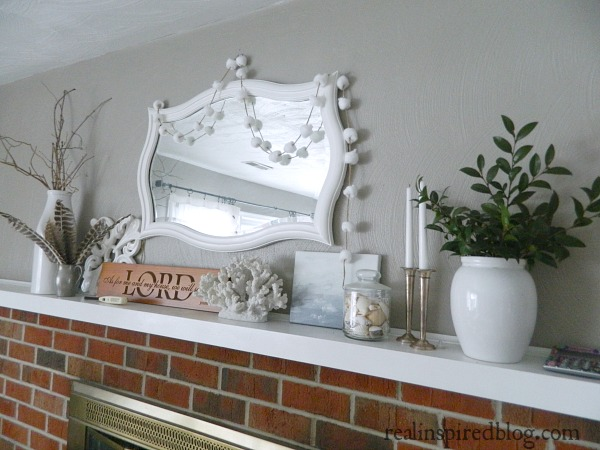 31 Days to Less Clutter, 31 Days Accessory Free Mantel