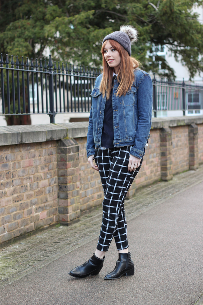 Denim Jacket and grid check trousers - The Goodowl