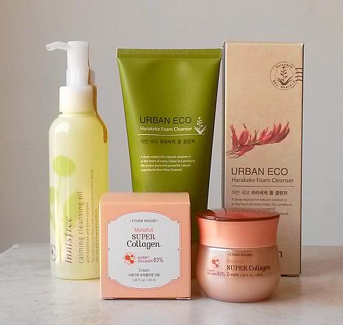 innisfree-calming-cleansing-oil-urban-eco-saem-super-collagen-cream-etude-house