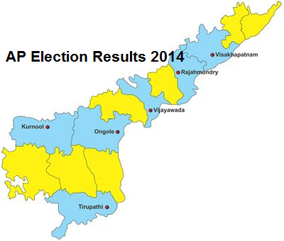 AP Elections 2014 Results-AP Lok sabha Election 2014 Results Updates On 16th May