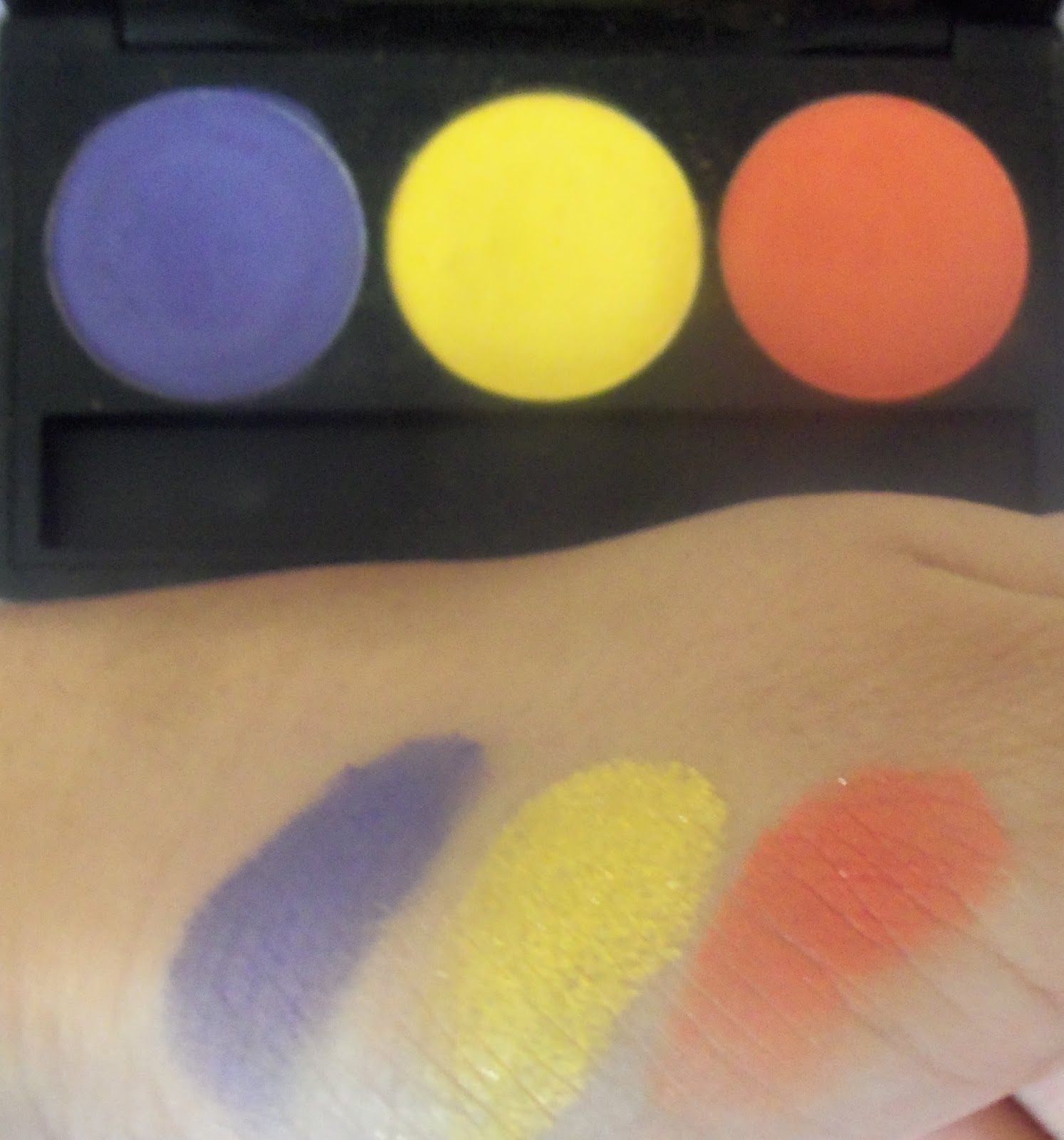 inglot eye palette yellow orange purple