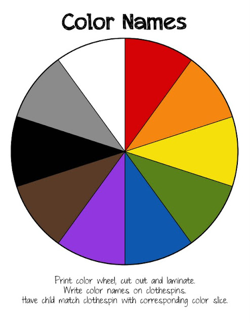 Playful image regarding color wheel printable