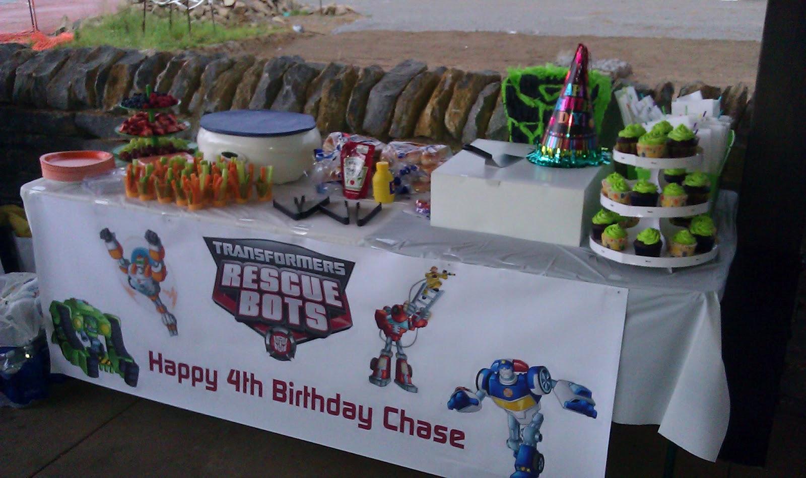 Transformer Rescue Bots Birthday Party