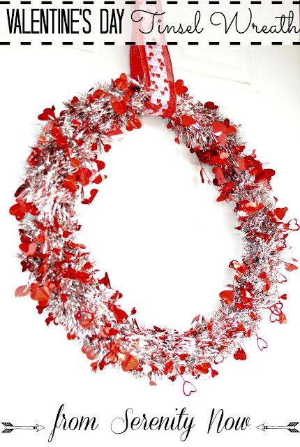 How to Make a Valentine's Day Wreath in 10 Minutes or Less, from Serenity Now