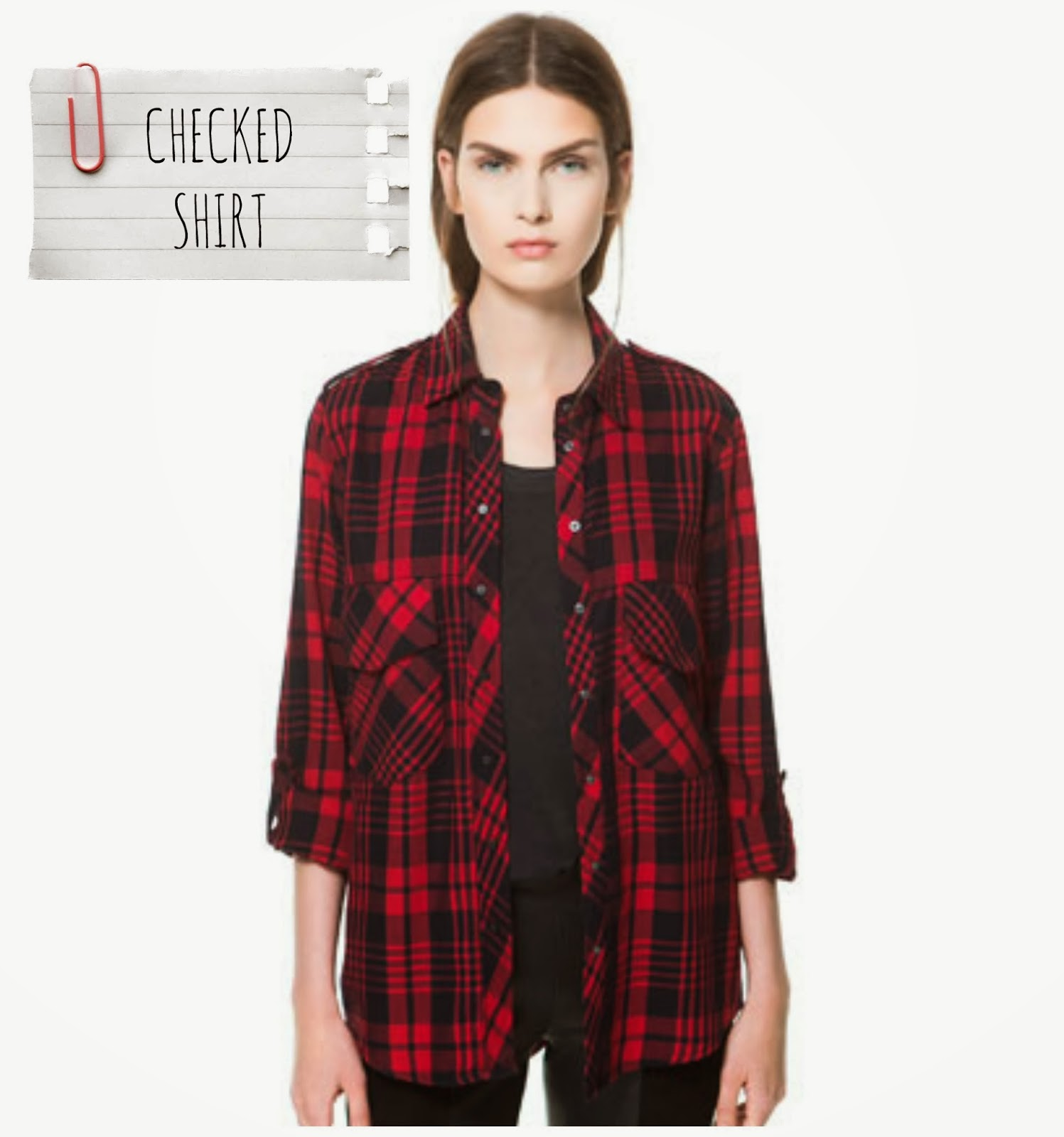 Checked Shirt - Zara