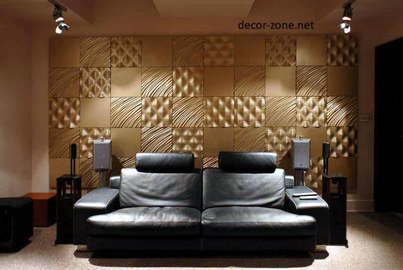 3d wall panels ideas materials and installation tips for Living room 3d tiles