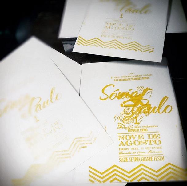 convites letterpress