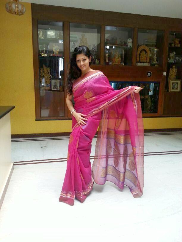 Radhika Kumarswamy sizzling photo shoot in Saree to her next project Rudra Thandava