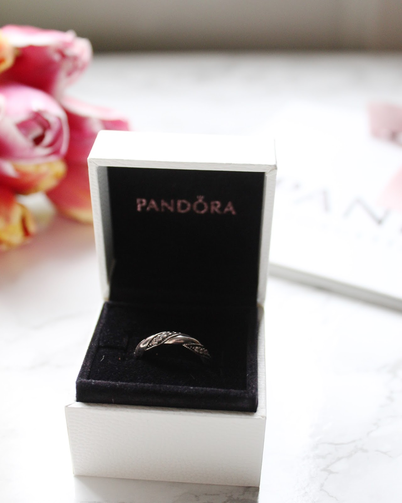 valentines day with pandora ribbon of love ring - Pandora Valentines Day Ring