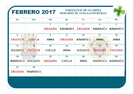 FARMACIA DE GUARDIA FEBRERO 2017