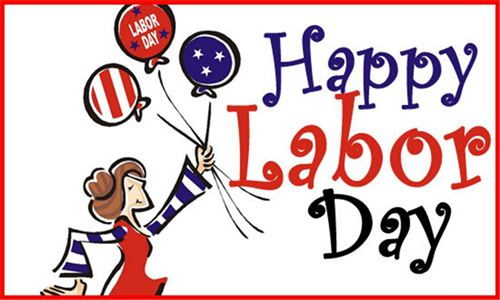 Best Labor Day Images For Facebook Cover: A Girl Hod Many Colorful Balloon On Labor Day Cartoon Wishes Photo For Facebook
