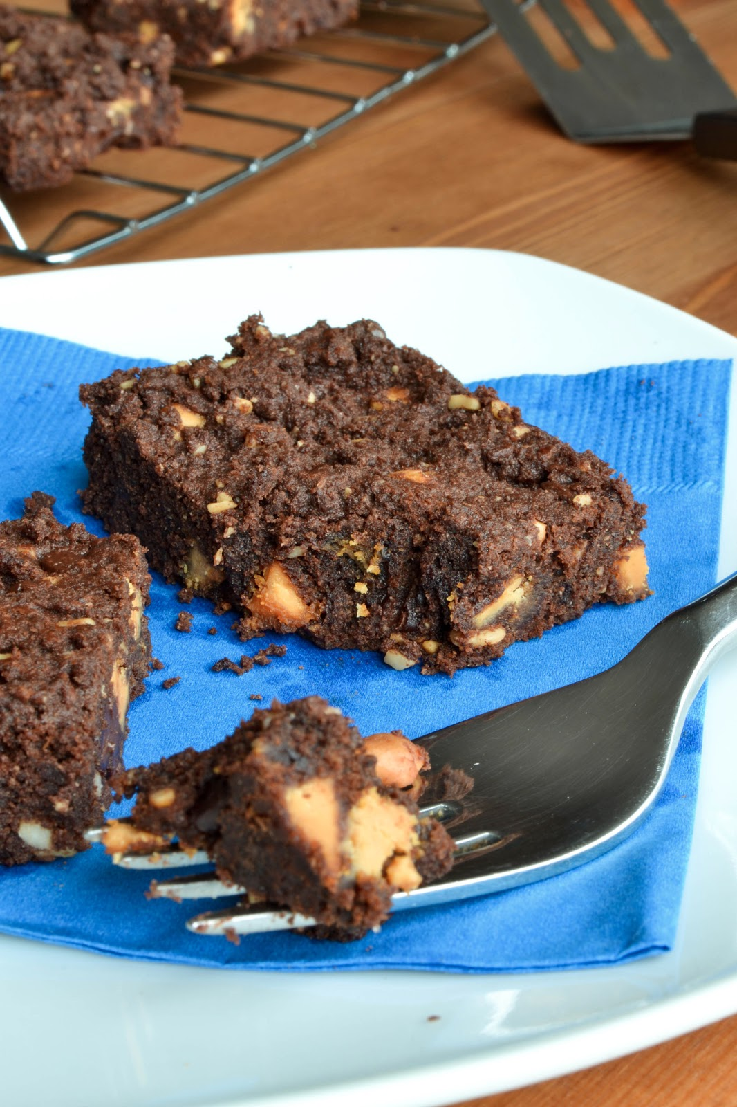 Chocolate Butterscotch Peanut Butter Cookie Bars - She Bakes Here