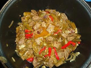Receta de carne con quimbombo