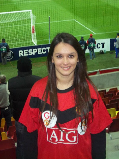 Marija is very excited see Manchester United