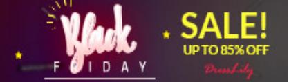 Dresslily black Friday sales