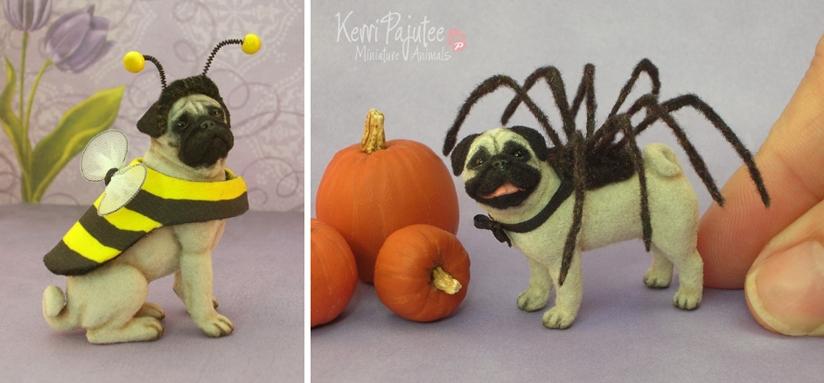 26-Pug-in-costume-Kerri-Pajutee-Miniature-Sculpture-that-look-Real-www-designstack-co