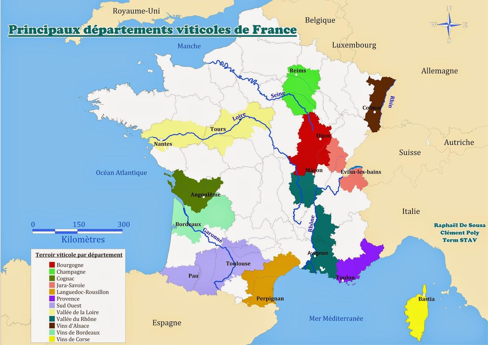 Des Cartes Et Des Eleves Le Terroir Viticole De France
