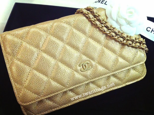 I Want Bags backup  Chanel Classic Quilted WOC Caviar (GHW) in GOLD 4bc8fb54e40c2