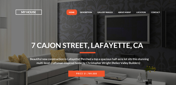 My House – Single Property Real Estate WP Theme