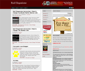 Free Download Red Eleganisme Blogger Template