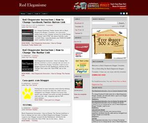 Free Download Red Eleganisme Blogger Template