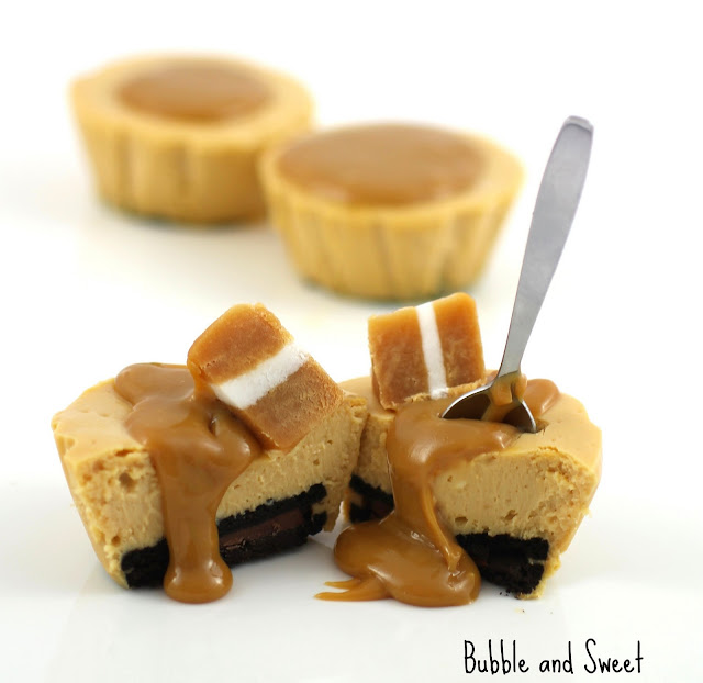 Bubble and Sweet: Caramel mini cheesecake and dulce de ...