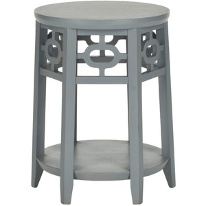 Zinc Door Adela Pearl Gray Side Table