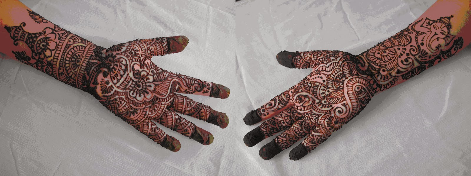 Mehndi henna designs on paper