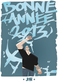 dessinateur illustrateur animateur bande dessinee croquis illustration crayonne animation artist illustrator animator comic book sketch sketches jonathan jon lankry animated happy new year 2013 bonne annee demon angel form