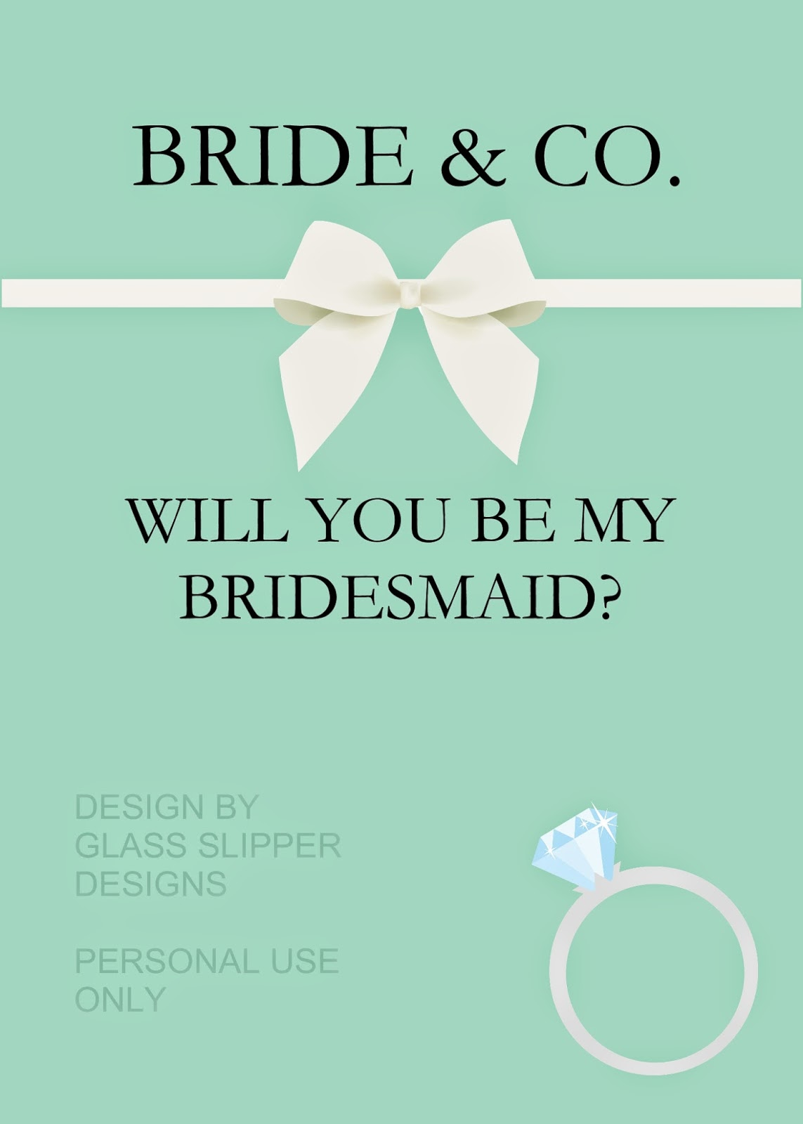 Glass Slipper Designs Printable Will You Be My Bridesmaid Cards Now Available