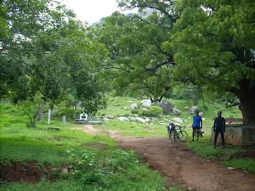 Hill with temple in Denkanikottai Reserve forest, Tamil Nadu