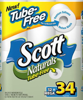 tube-free toilet paper, Scott, Kimberly-Clark