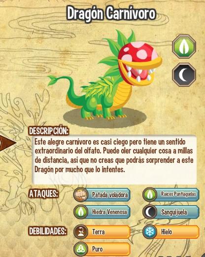 todas las estadisticas del dragon carnivoro