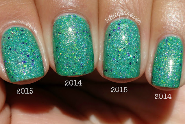 Glam Polish Frankenslime 2014 vs. 2015