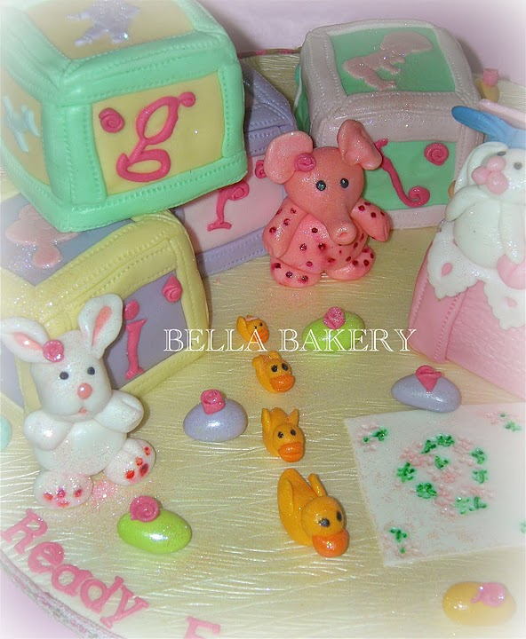 Baby Block Toy Box : Toy box baby blocks shower cake
