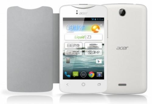 Molti accessori come cover protettive, flip cover e quanto altro per il nuovo smartphone android da 99 euro di Acer