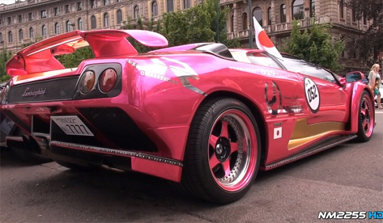 Pink Lamborghini Diablo GT with Powercraft Exhaust