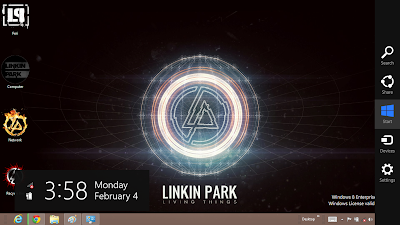 Linkin Park Theme For Windows 8